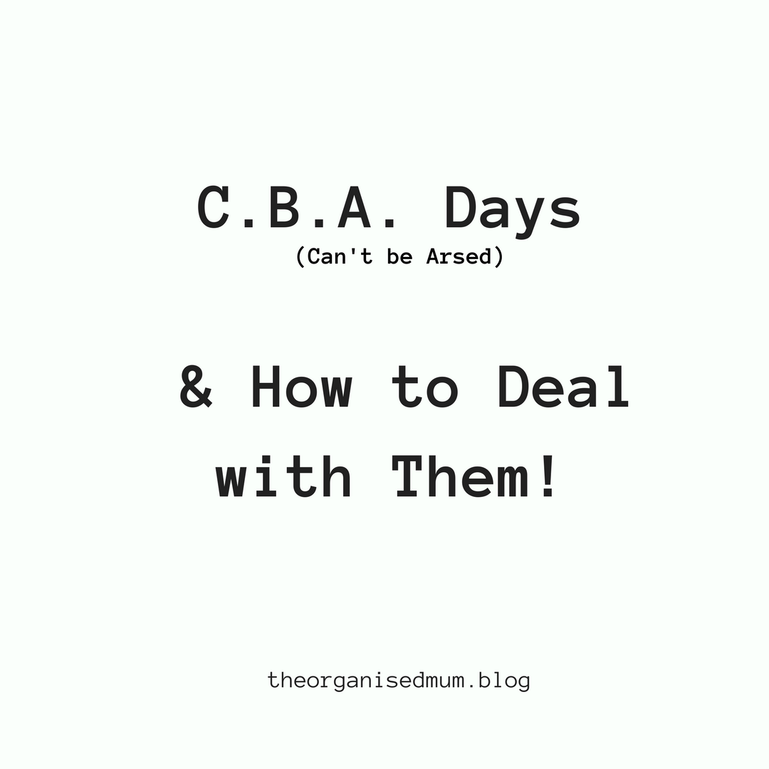 C.B.A. Days and How to Deal with Them!