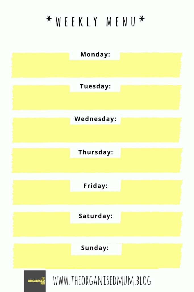 picture about Weekly Menu Printable identified as Weekly Menu Application Printable Theres Even more toward Lifestyle than