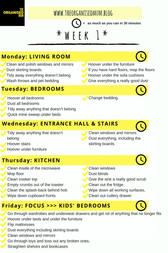 The Organised Mum Method Week 1:              FREE PRINTABLE