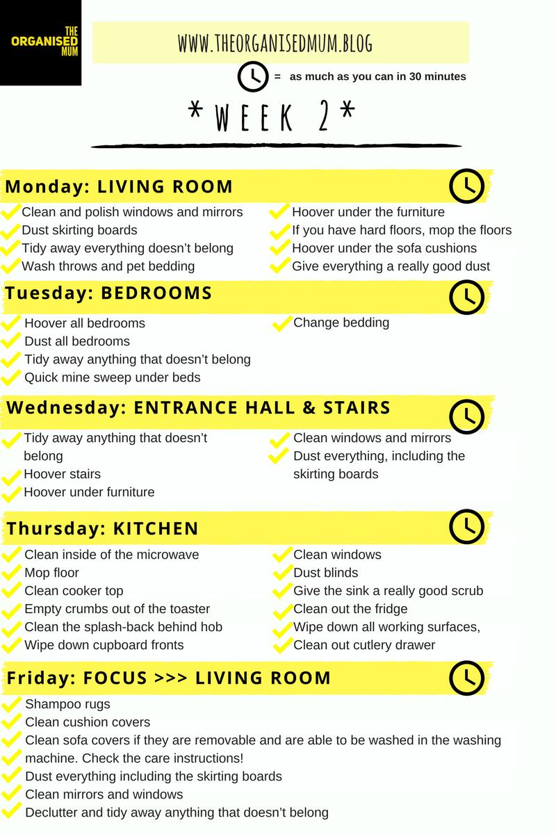 The Organised Mum Method Week 2              FREE PRINTABLE