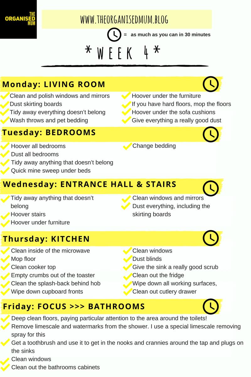 The Organised Mum Method Week 4              FREE PRINTABLE