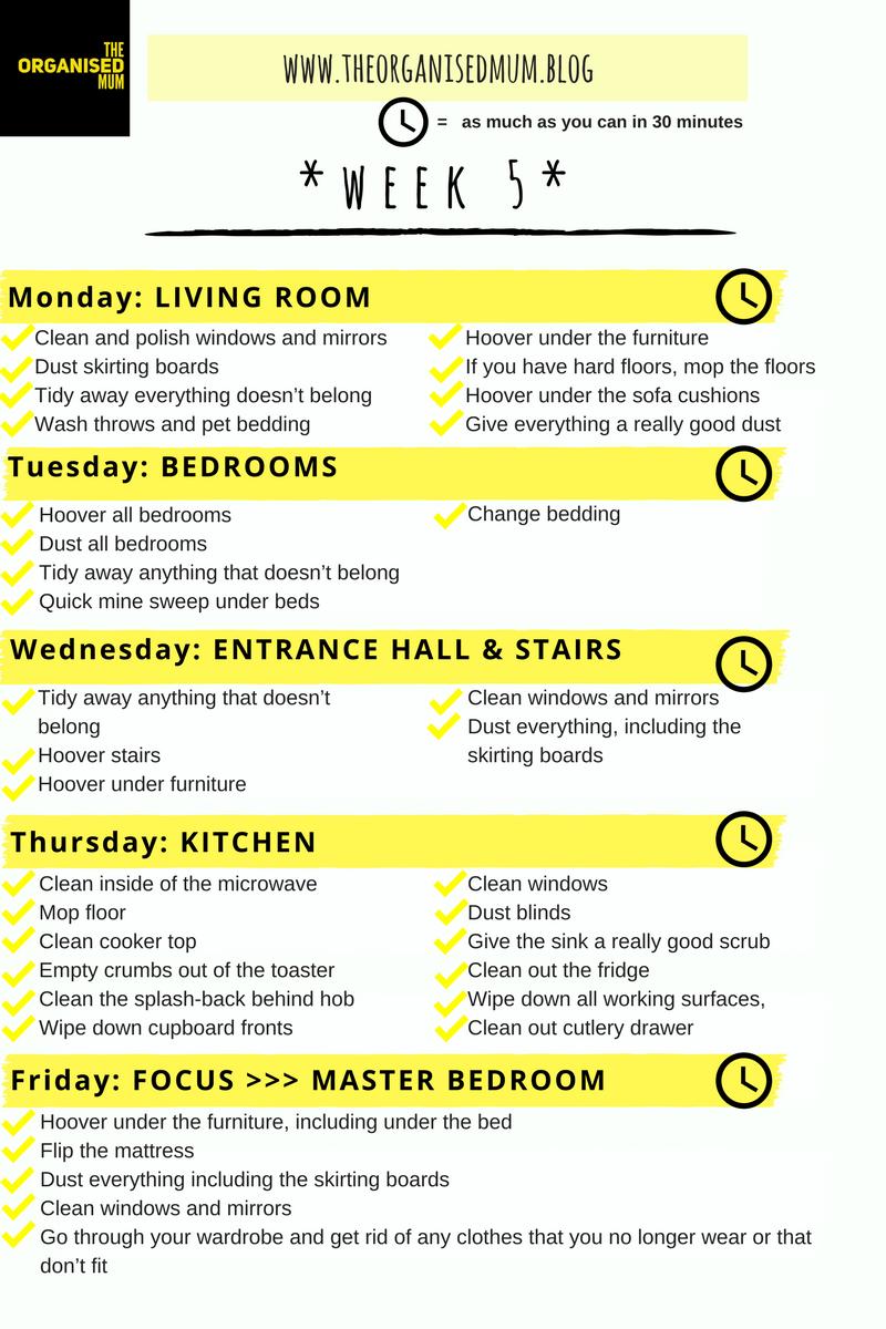 The Organised Mum Method Week 5             FREE PRINTABLE