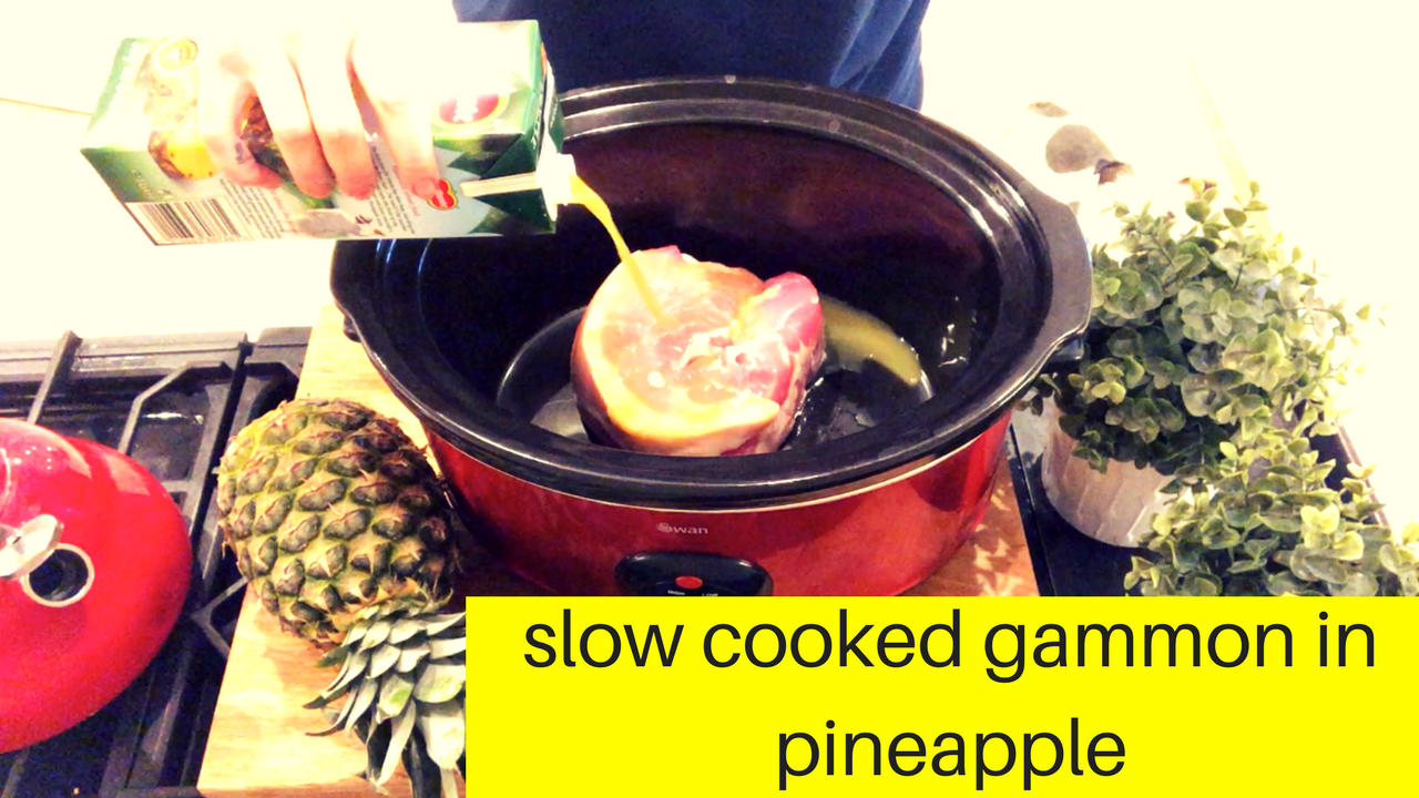 Slow Cooker Gammon in Pineapple