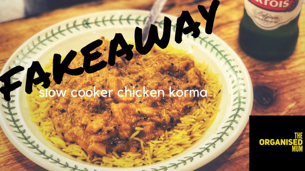 Fakeaway Slow Cooker Chicken Korma