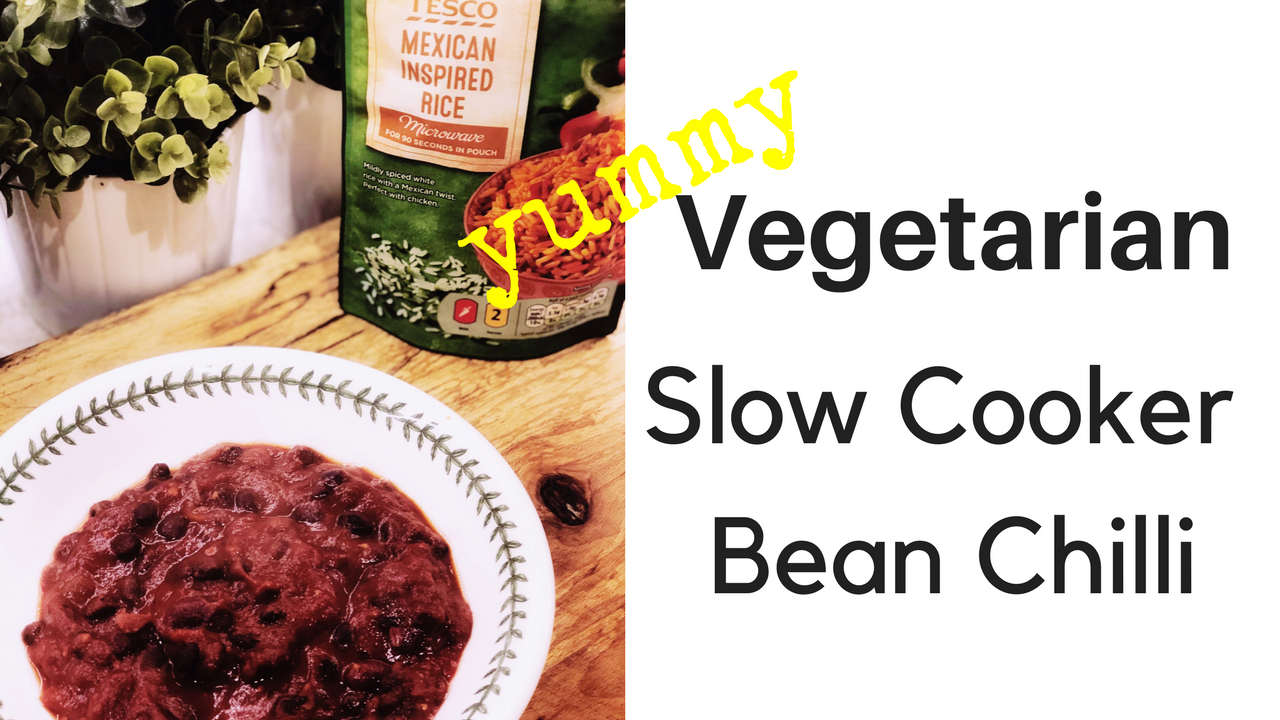 Slow Cooker Veggie Bean Chilli (Dairy Free)