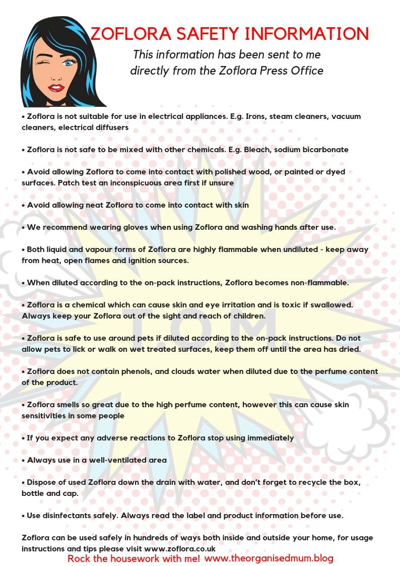 Zoflora Safety Information