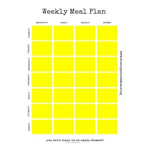 Meal Plan Printable: Revamped!